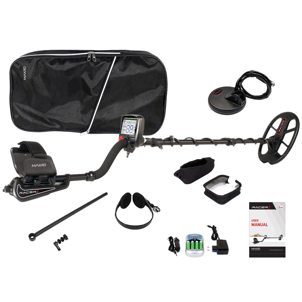 Amazon.com : Makro 1448-RACER2P Racer 2 Pro Package Metal Detector, Black : Garden & Outdoor