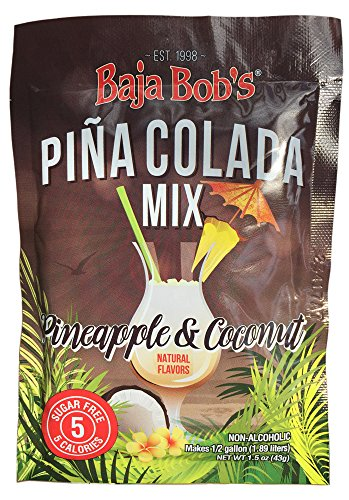Pina Colada Cocktail Mix, Powder, Each Packet Makes 16 Pina Colada Cocktails, Sugar Free Cocktail Mix (Pack of 2)