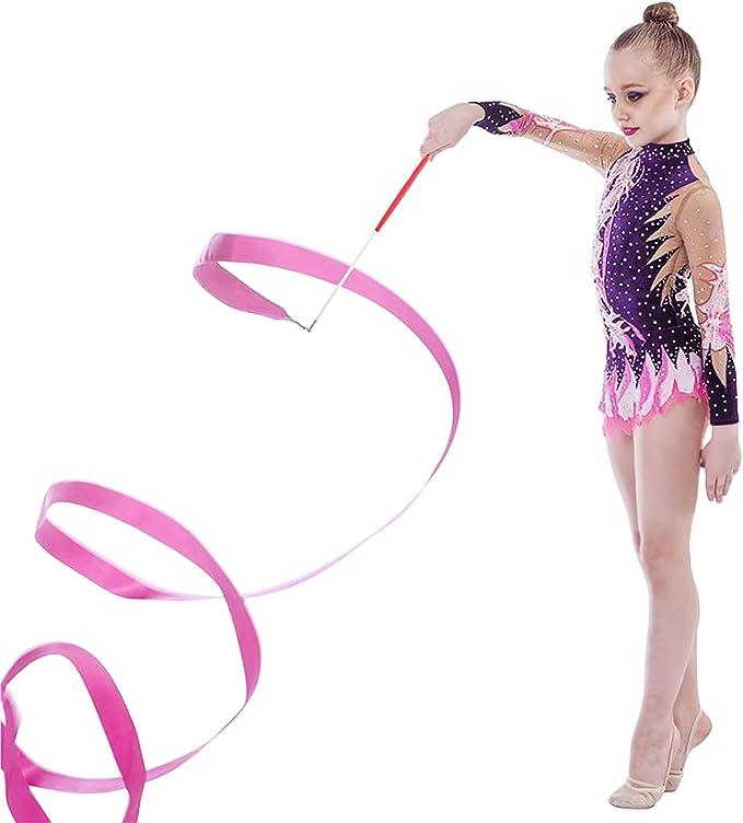 Tanzband mit Stab Kinder Tanzbänder Streamer Rhythmische Gymnastik Band