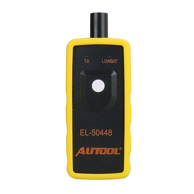 AUTOOL EL-50448 Automotive Tire Pressure Monitor Sensor Activation Tool TPMS Reset 315MHZ and 433MHz Car Tyre Pressure Monitoring System Reset Tools