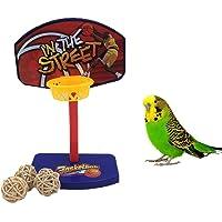 Mini canasta intelectiva de baloncesto para ave, juguete