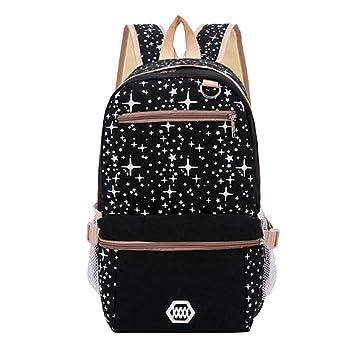 Amazon.com: Conjunto de mochilas con estrellas brillantes ...