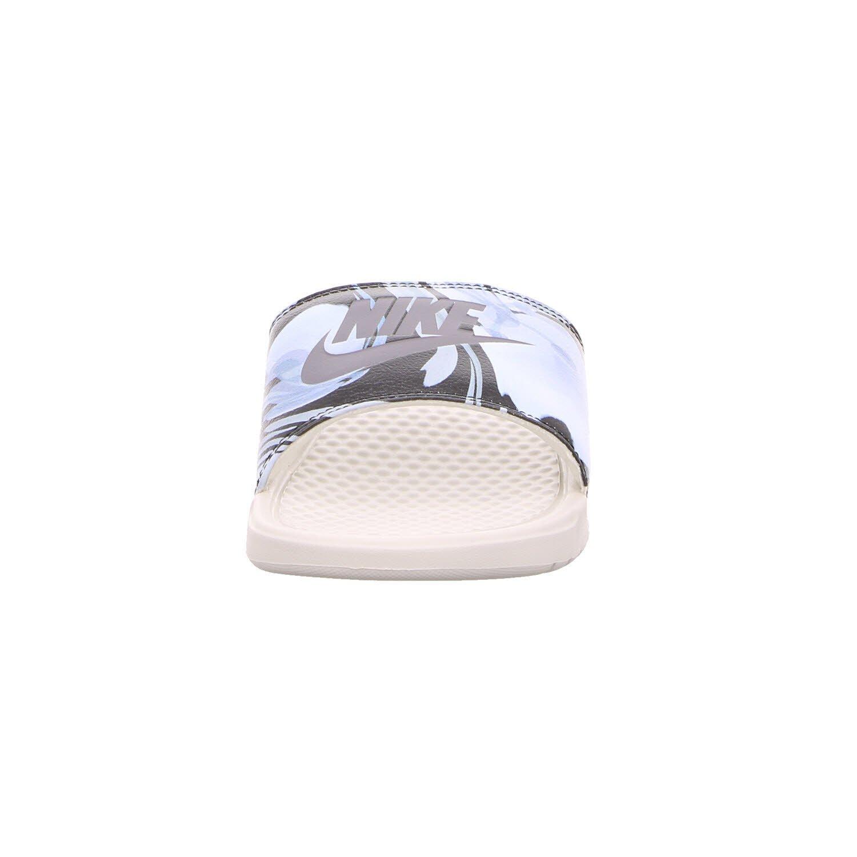 NIKE Women's Benassi Just Do It. Sandal Black B00I111IBA 7 M US|Light Bone/Light Carbon-light Bone