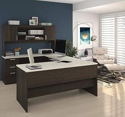 Delicieux Amazon.com: Bestar U Shaped Desk With Pedestal And Hutch   Ridgeley:  Kitchen U0026 Dining