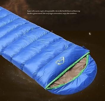 Abajo Saco de Dormir Grueso Caliente Acampar al Aire Libre Que Duerme el Saco de Dormir Adulto Saco de Dormir de: Amazon.es: Juguetes y juegos