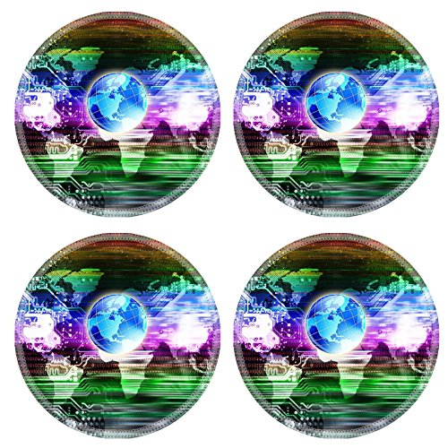 MSD Round Coasters Non-Slip Natural Rubber Desk Coasters design 24061657 Computers programming technology Globalization abstract colorful - Programming Coasters