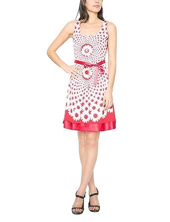 Desigual damen a linie kleid mit print