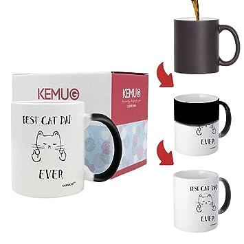 kemug - Funny Cat Regalos mejor gato Papá nunca Rude Cat Memes regalo amante de los gatos tazas de café taza de té blanco: Amazon.es: Hogar