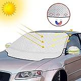 Protector para Parabrisas, otumixx Protector de Parabrisas Magnético Cubierta de Parabrisas para Coche Protege de Rayos UV, Sol, Lluvia, Nieve, Funda Plegable Parabrisa Delantero Universal, 186x120cm