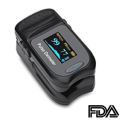 accewit oxímetro cebar de dedo Portátil Profesional Pantalla OLED, para frecuencia del pulso (Pr