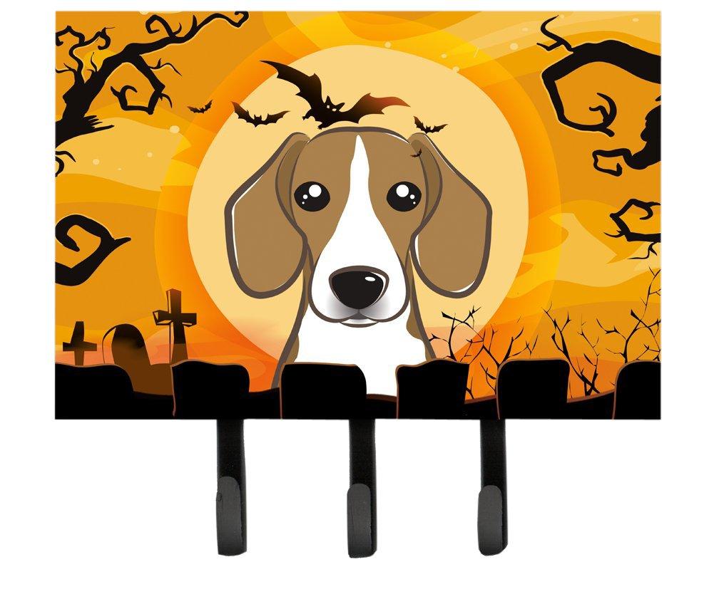 Large Multicolor Carolines Treasures BB1797TH68 Halloween Beagle Leash or Key Holder