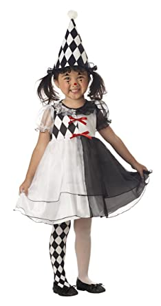 Elegant Amazon.com: Toddler And Girls Little Harlequin Clown Costume   Child Small:  Clothing