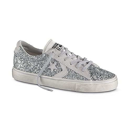 converse leather pro glitter