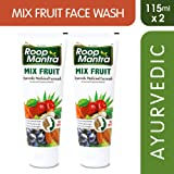 Roop Mantra Mix Fruit Face Wash 115ml, Pack of 2 (Face Wash for All)