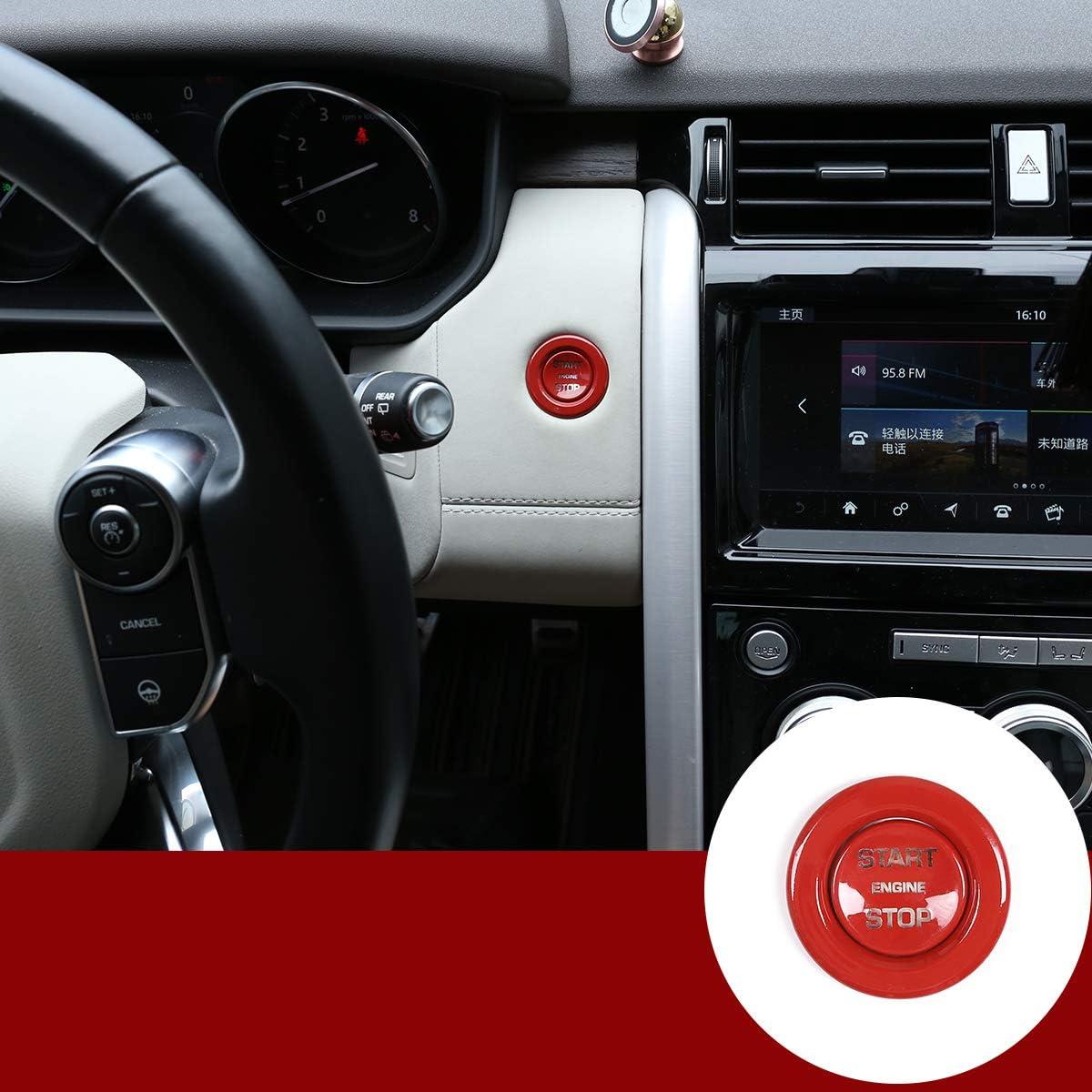RangeRover Vogue Car Accessories RangeRover Sport YIWANG ABS cubierta de bot/ón de arranque de motor cromado para Discovery Sport,Discovery 5,RangeRover Evoque