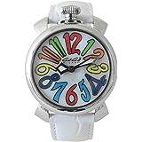 (ガガミラノ)GAGA MILANO ガガミラノ 腕時計 マヌアーレ 40mm ホワイト マルチ 5020.1 レディース ステンレス クオーツ メンズ レディース 兼用 ホワイト シェル 腕時計 ホワイトストラップ [並行輸入品]