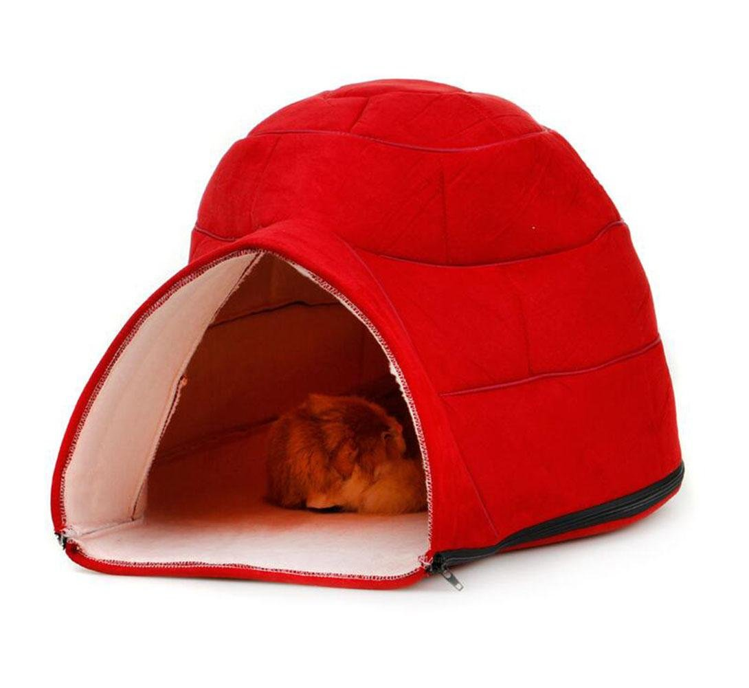 Amazon.com : WWQY Pet Bed Sleeping Bag Soft Warm Dog Cat Kitten Cave Nest Red Gray : Sports & Outdoors