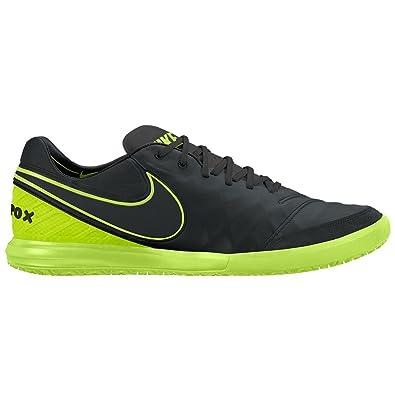 8997d9977 Nike Men s Tiempox Proximo IC Indoor Soccer Shoe Black Volt
