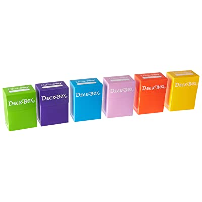 Ultra Pro Deck Box, Set of 6 (Orange, Purple, Light Blue, Pink, Yellow, Light Green): Toys & Games