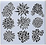 CRAFTERS WORKSHOP TCW613S Template, 6'' x 6'', Pretty Succulents, White