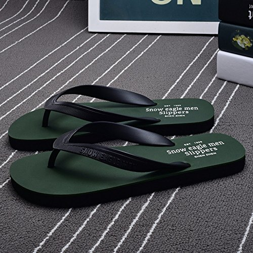 Slippers HAIZHEN Women shoes Men's Summer Soft Bottom Non-slip Beach Shoes Sandals Summer Black Blue Brown Red ArmyGreen for Women (Color : Blue, Size : EU41/UK8-8.5/CN42) Armygreen