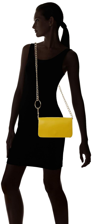 Circle Chain Giallo Tracolla Borse Detail A Look New Donna 5PwUvv