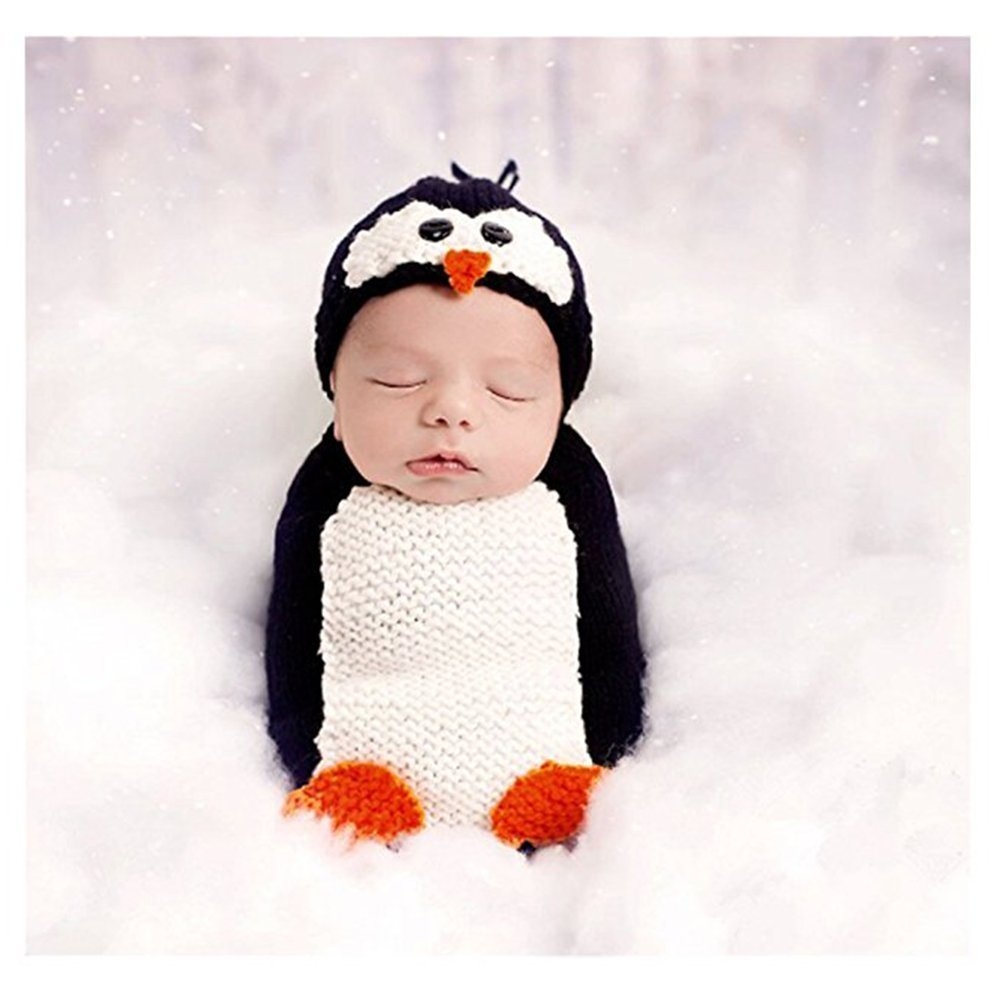 Amazon.com  Unisex Newborn Baby Photography Props Cute Penguin Sleeping Bag  Halloween Costume  Baby 8825738a76db