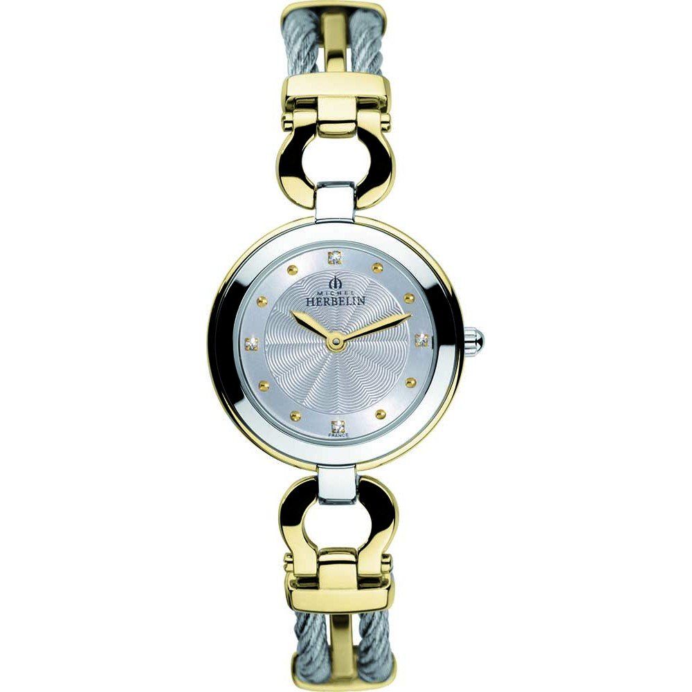 Women's Watch Michel Herbelin - 17425/BT12 - CABLE - Bicolor Steel and Gold Plated