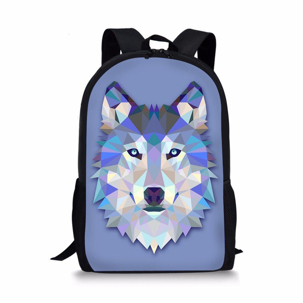 Amazon.com: WHEREISART School Bookbag Teenager Backpack Rucksack Laptop Mochila Wolf Design: Computers & Accessories