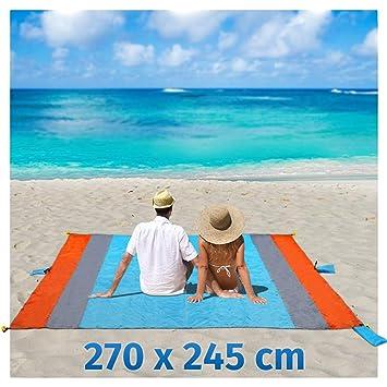 1x Sandfreie Stranddecke Strandmatte Picknick Decke Campingdecke Strand Tuch Schlafausrüstung Reiseaccessoires