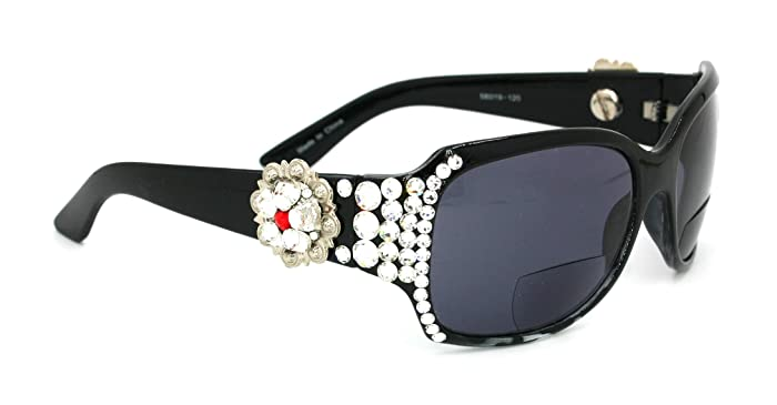 fb147956b3 Amazon.com  Rope Edge Concho SWAROVSKI Crystal Women Sun Readers By Focal  Glasses +1.50
