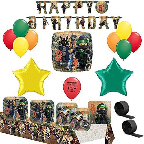 The Lego Ninjago Movie Party Supply and Balloon Decoration (Ninjago Party Supplies Party City)