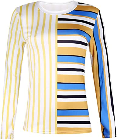 Discount Boutique Camisa de Mujer con Costuras a Rayas Jersey ...