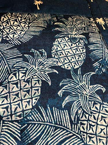 - Tommy Bahama Outdoor Reversible Blanket with Tote Blue Pineapples and Palm Trees