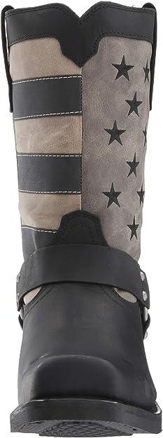 Durango Men/'s Patriotic Black Faded Flag /& Harness Boot DDB0141