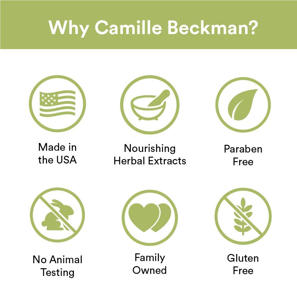 Camille Beckman Essentials Gift Basket, Vitamin E Unscented, Glycerine Hand Therapy 6 oz, Silky Body Cream 13 oz, Hand and Shower Cleansing Gel 13 oz, Glycerine Soap 3.5 oz