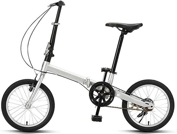 Mini Bicycle Folding Bicycle Road Bike Adult Male Female Student Bicycle City Bike Lightweight Bike Size : 16 inch