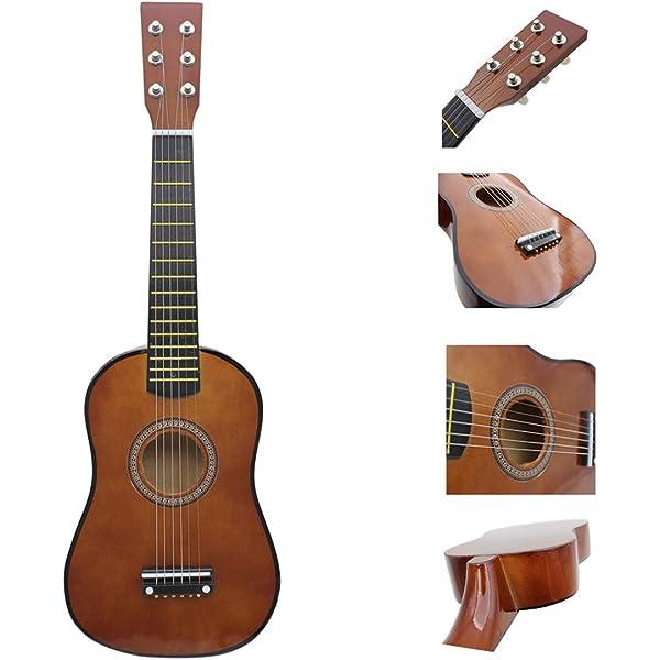 POXL Niños Guitarra Juguete, 6 Cuerdas Infantil Musicales Guitarra ...
