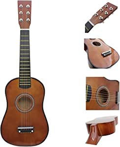 YAKOK Madera Guitarra Niño 6 Cuerdas 23 Guitarra Juguete para ...