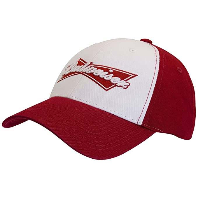 Image Unavailable. Image not available for. Color  Budweiser - Red Logo  Adjustable Baseball Cap Red ed4533611ca0