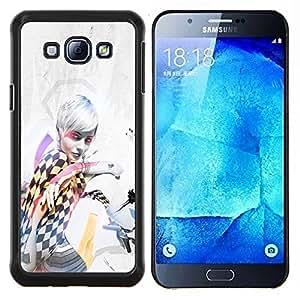 """Be-Star Único Patrón Plástico Duro Fundas Cover Cubre Hard Case Cover Para Samsung Galaxy A8 / SM-A800 ( Pin Up Girl Race"""" )"""