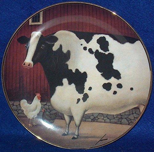 - The Franklin Mint Bessie's Barn Lowell Herrero Fine Porcelain Decorative Plate