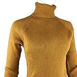 Fengtre Women's Tencel Wool Warm Turtle-neck Stretch Knit Long Sleeve Pullover Basic Loose Long Sweater