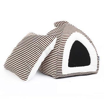 Jaulas Cat Cat Litter Cerrado Invierno Cálido Perro Cama Doghouse Perrera Cachorros Gatito Casa Regalo (