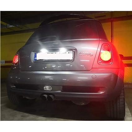 GOFORJUMP Luces de la Placa del Coche LED 12VPara B/MW Mini Cooper S R50 R52 R53 Accesorios 2X Blanco SMD Kit de lámpara de Placa con número de LED