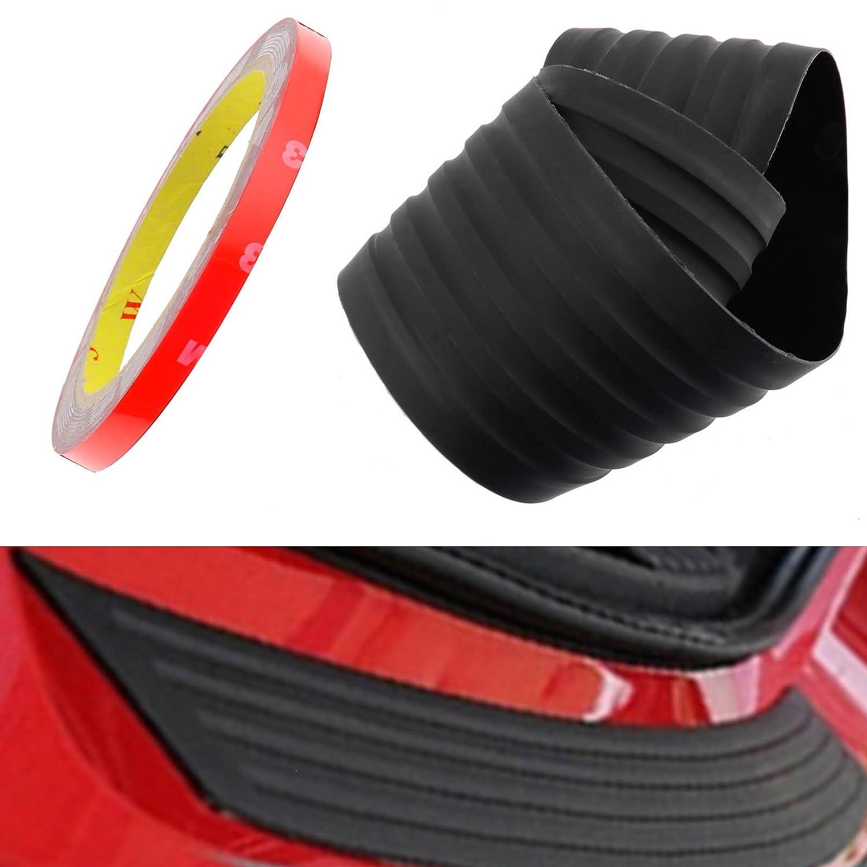 Car Black Rear Boot Bumper Sill Protector Plate Rubber Cover Guard Trim Strip 90x8cm Emma