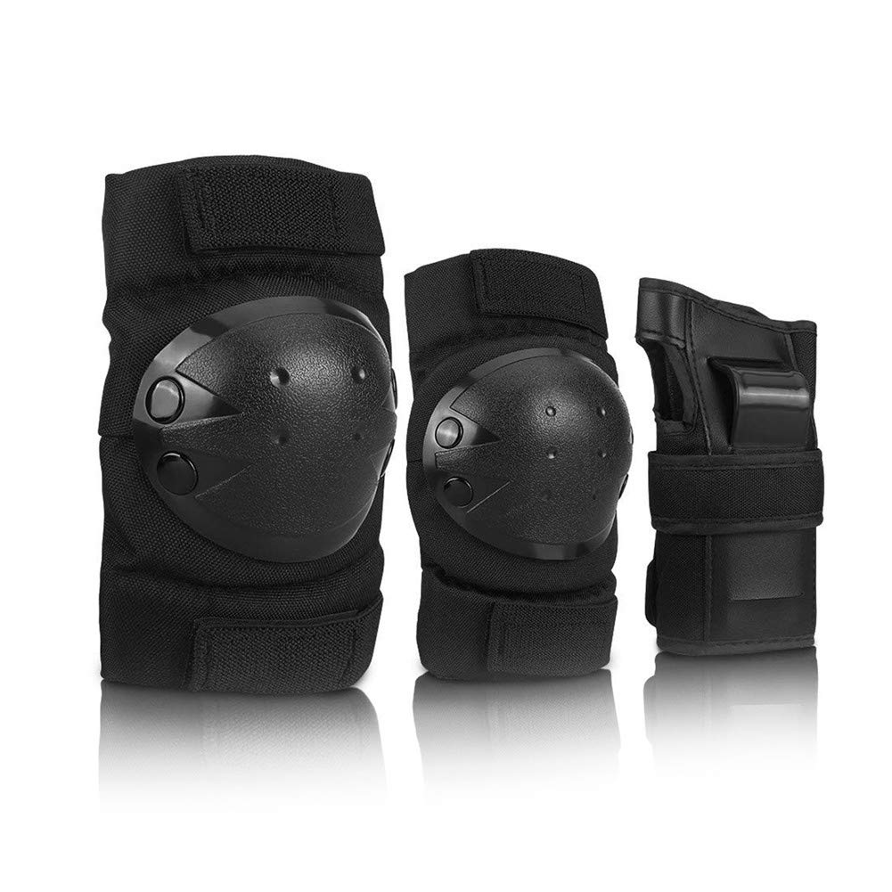 BeyongGear Knee Pads for Kids Adult Elbows Pads Wrist Guards 3 in 1 Protective Gear Set for Skateboarding, Roller Skating, Rollerblading, Snowboarding, Cycling S M L