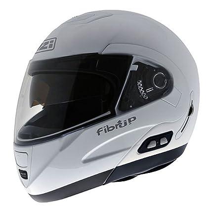 NZI Fibrup PH Casco de Moto, Blanco, 55-56 (S)