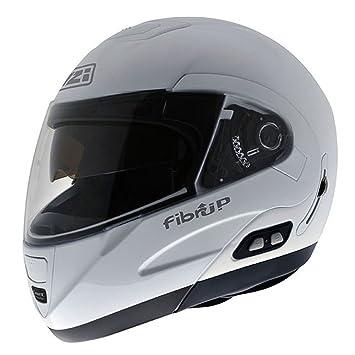 NZI Fibrup PH Casco de Moto, Blanco, 57 (M)