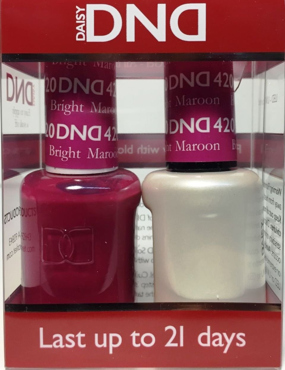 Amazon.com: DND Gel & Matching Polish Set #420 - Bright Maroon: Beauty